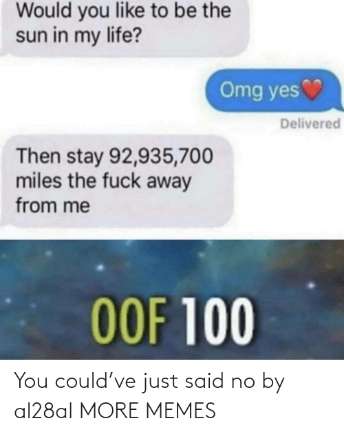 Just Said: You could've just said no by al28al MORE MEMES