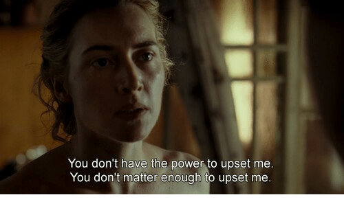 Mee: You don't have the power to upset mee  You don't matter enough to upset me