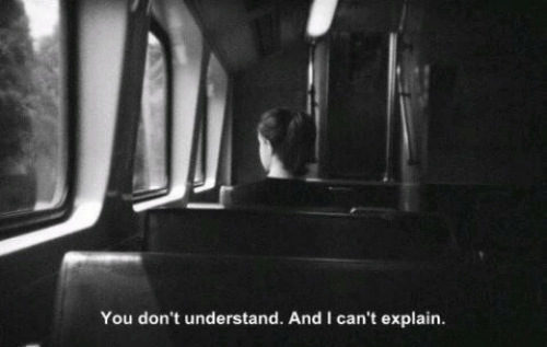 You Dont Understand: You don't understand. And I can't explain