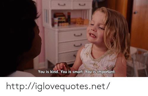 Http, Net, and Smart: You is kind. You is smart. You is important http://iglovequotes.net/