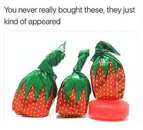 Never, They, and You: You never really bought these, they just  kind of appeared