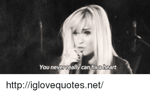 Heart, Http, and Net: You neverreally can fixa heart http://iglovequotes.net/