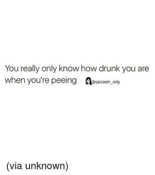 Orly: You really only know how drunk you are  when you're peeing esarcasm Orly (via unknown)