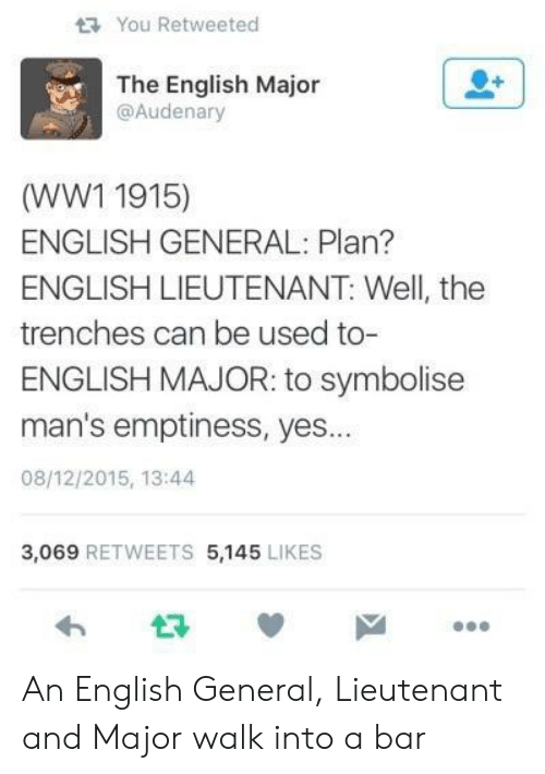 You Retweeted the English Major WW1 1915 ENGLISH GENERAL