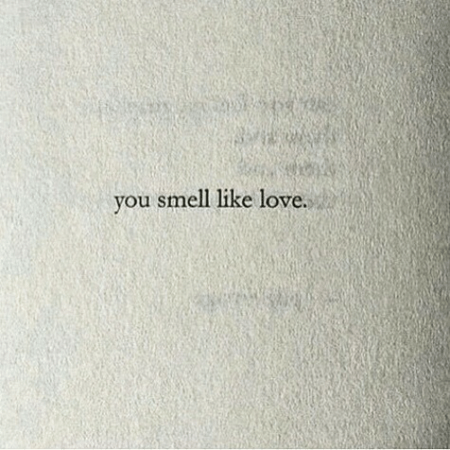 Love, Smell, and You: you smell like love