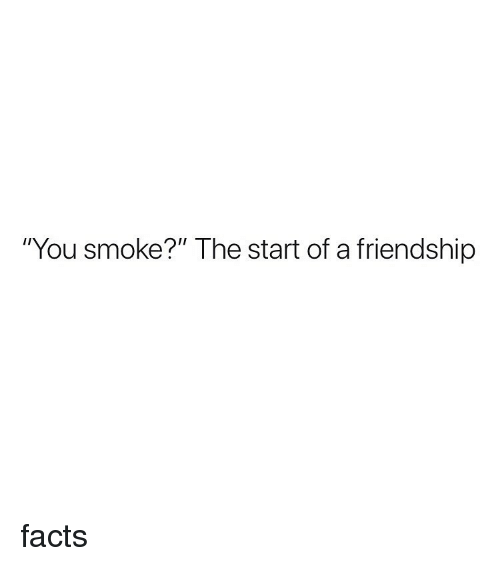 "Facts, Weed, and Marijuana: ""You smoke?"" The start of a friendship facts"