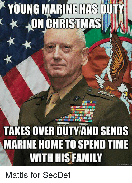 Young Marine Has Duty Hon Christmas Takesoverduty And Sends Marine