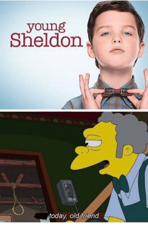 Young Sheldon: young  Sheldon  today, old friend