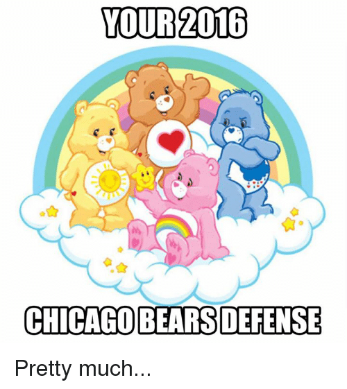 Chicago Bear: YOUR 2016  CHICAGO BEARS DEFENSE Pretty much...