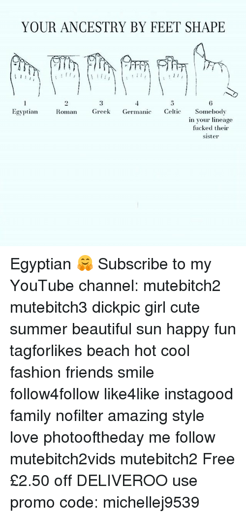 Germanic: YOUR ANCESTRY BY FEET SHAPE  11  Egyptian Roman Greek Germanic Celtic Somebody  in your lineage  fucked their  sister Egyptian 🤗 Subscribe to my YouTube channel: mutebitch2 mutebitch3 dickpic girl cute summer beautiful sun happy fun tagforlikes beach hot cool fashion friends smile follow4follow like4like instagood family nofilter amazing style love photooftheday me follow mutebitch2vids mutebitch2 Free £2.50 off DELIVEROO use promo code: michellej9539