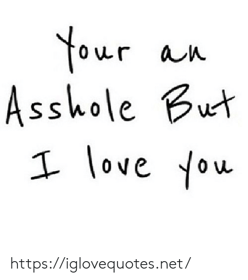 Love, I Love You, and Asshole: Your  Asshole But  an  I love You https://iglovequotes.net/