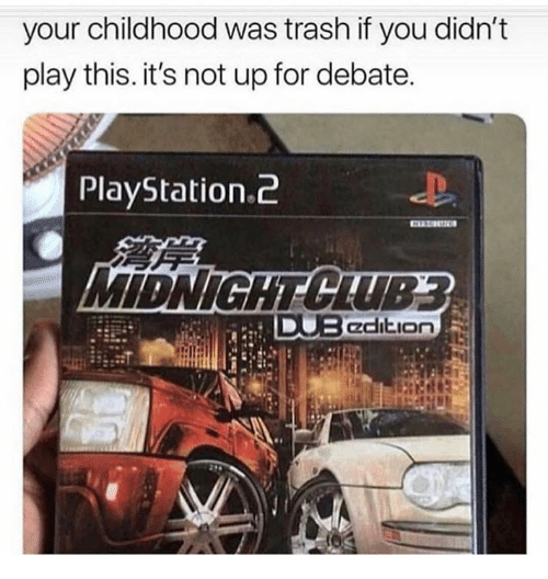 PlayStation, Trash, and Debate: your childhood was trash if you didn't  play this. it's not up for debate.  PlayStation.c