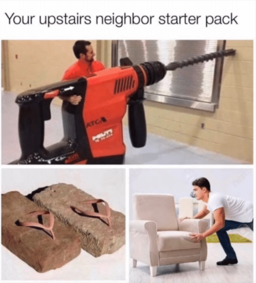 pack: Your upstairs neighbor starter pack  ATC  HILLTY  CAVE