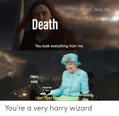 Youre A: You're a very harry wizard