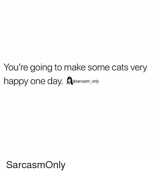 Cats, Funny, and Memes: You're going to make some cats very  happy one day. esacam, only SarcasmOnly