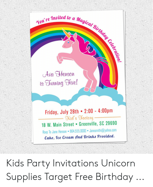You're Invited to a Magical Birthday Celebrat Ava Henson Is Turning