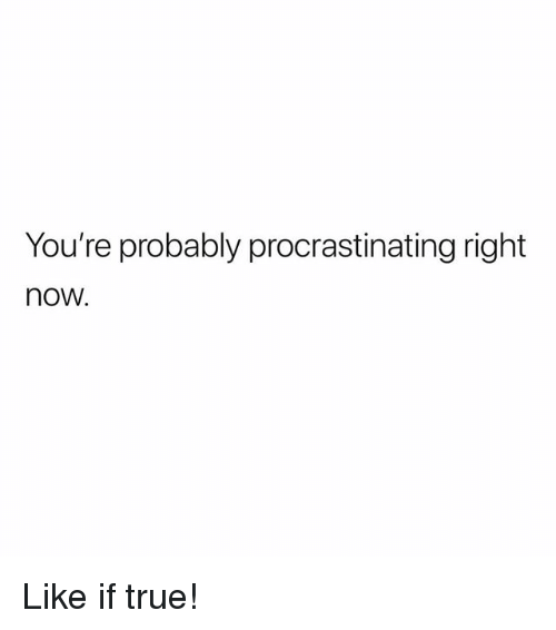 Memes, True, and 🤖: You're probably procrastinating right  now. Like if true!