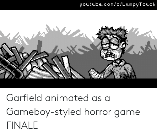 finale: youtube.com/c/LumpyTouch Garfield animated as a Gameboy-styled horror game FINALE