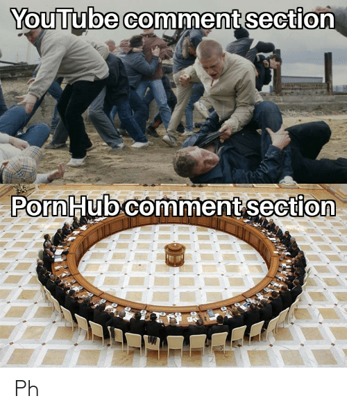 Porn Hub, youtube.com, and Porn: YouTube comment section  Porn Hub comment section Ph