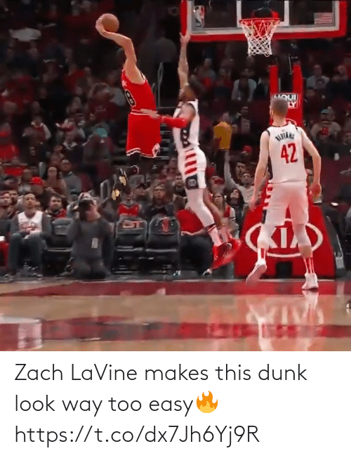 easy: Zach LaVine makes this dunk look way too easy🔥 https://t.co/dx7Jh6Yj9R