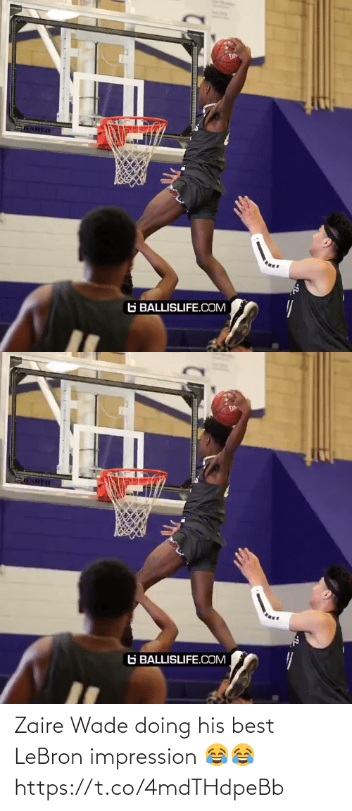 Impression: Zaire Wade doing his best LeBron impression 😂😂 https://t.co/4mdTHdpeBb