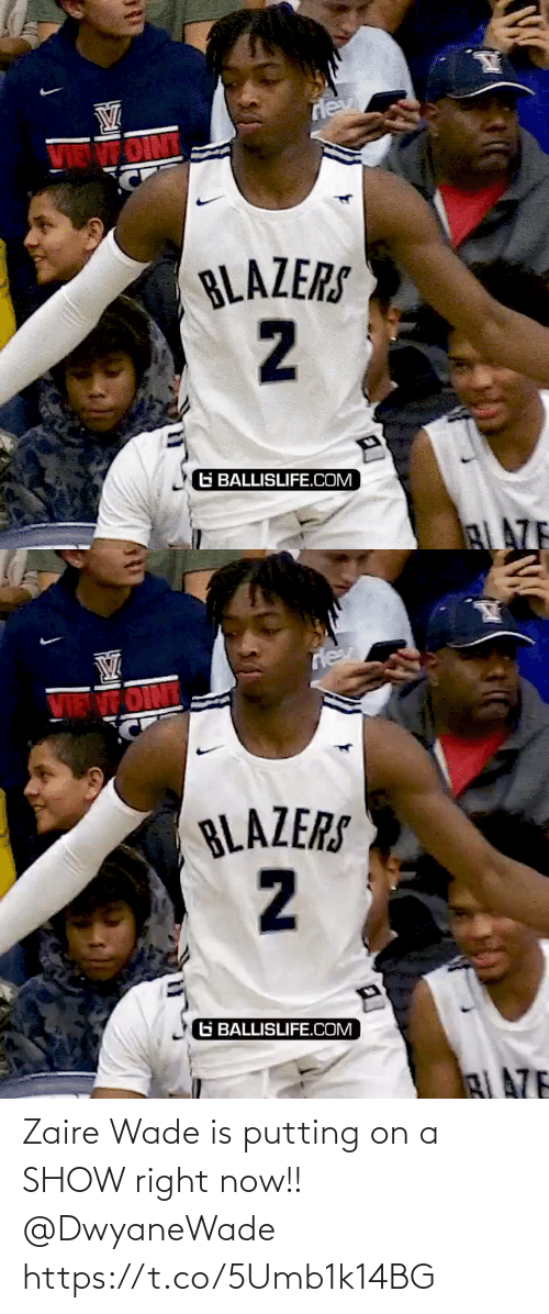 On A: Zaire Wade is putting on a SHOW right now!! @DwyaneWade https://t.co/5Umb1k14BG