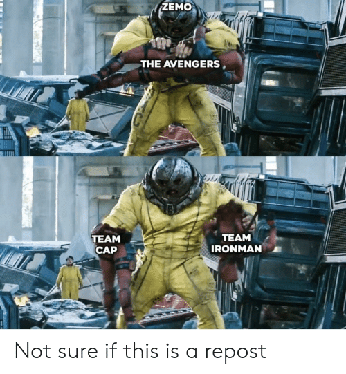 Team Cap: ZEMO  THE AVENGERS,  TEAM  CAP  TEAM  IRONMAN Not sure if this is a repost