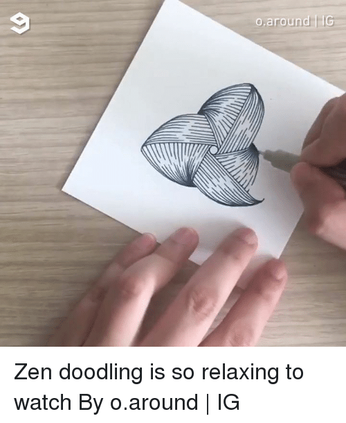 doodling: Zen doodling is so relaxing to watch By o.around | IG