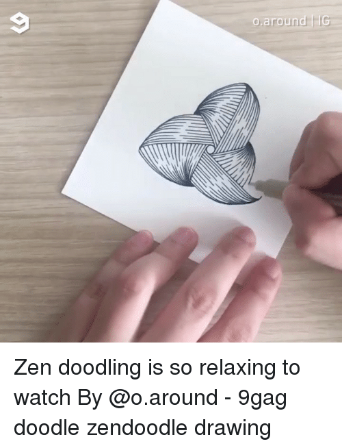 doodling: Zen doodling is so relaxing to watch By @o.around - 9gag doodle zendoodle drawing